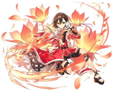 【紅蓮の歌姫】実在型アーサー魔法の派_盗賊_進化後