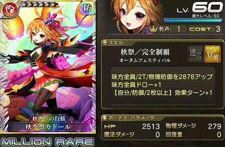 秋季型カドール★6_LvMAXステータス