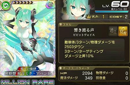 異界型初音ミク・アペンド★6_LvMAXステータス