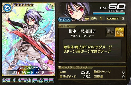 逆行型モードレッド★6_LvMAXステータス