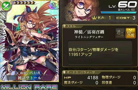 神話型トール★6_LvMAXステータス