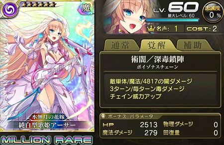 新・純白型歌姫アーサーMRステータス