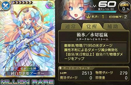 新・純白型歌姫アーサーMR乖離進化ステータス