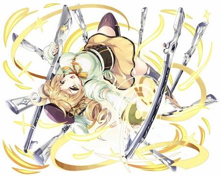異界型巴マミ魔法少女は2c3T物理バフで威力アップまであって超強いかと思ったらHPの半分ダメージ食らうとかマミさんの扱いwww