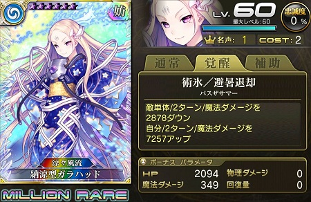 【4/25以降】納涼型ガラハッドMRステータス