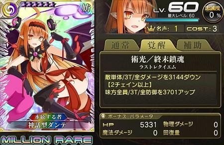 【7/12以降】神話型ダンテ盗賊MRステータス