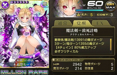 【10/19以降】未来型モーガンMR乖離進化ステータス