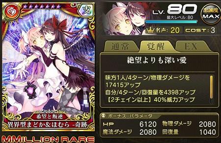 異界型まどか&ほむら-奇跡-歌姫MMRステータス