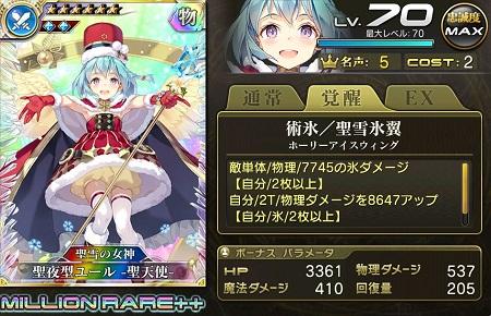 聖夜型ユール -聖天使-傭兵MR++ステータス