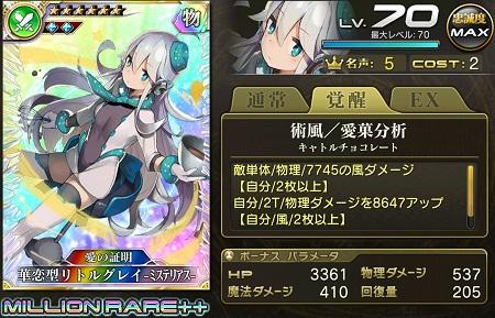 華恋型リトルグレイ-ミステリアス-MR++ステータス
