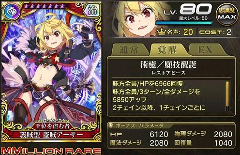 義賊型 盗賊アーサー(歌姫)